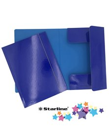 Cartella con elastico 25x34cm Blu Queen Starline