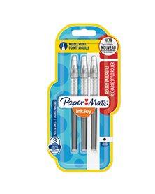 Blister 3 refill Inkjoy Roller Liquid Stick 0,5mm nero PAPERMATE