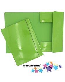 Cartella con elastico 25x34cm Verde prato Queen Starline