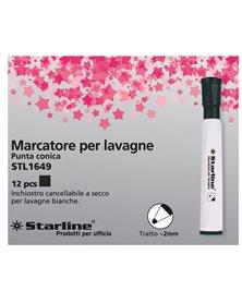 MARCATORE PER LAVAGNE NERO P.TONDA 2MM STARLINE