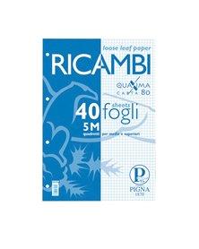 RICAMBI FORATI A5 5MM 80GR QUAXIMA 40FG 80GR PIGNA