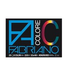 BLOCCO FACOLORE (33X48CM) 25FG 220GR 5 COLORI FABRIANO
