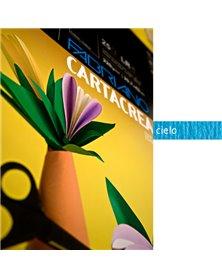 Blister 10fg cartoncino 35x50cm 220gr cielo Cartacrea Fabriano