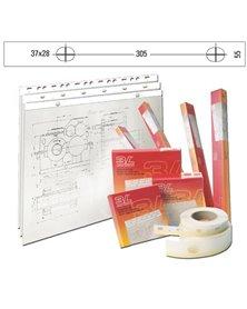 BANDA APPENDIDISEGNI 3L PVC BIANCO OPACO 55mm x 50mt (S885504)