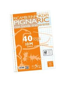 RICAMBI FORATI RINFORZATI A4 10MM 40FG 80GR PIGNARIC
