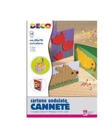 10FG CARTONCINO ONDULATO 50X70CM BIANCO ART 2206/6 CWR