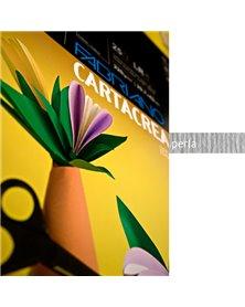 Blister 10fg cartoncino 35x50cm 220gr perla Cartacrea Fabriano