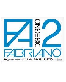 ALBUM P.M. FABRIANO2 (24X33CM) 10FG 110GR QUADRETTO 5MM
