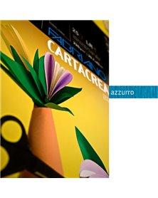 Blister 10fg cartoncino 35x50cm 220gr azzurro Cartacrea Fabriano