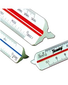 Scalimetro 98U 30cm (Scale 1:1-2-5-20-50-100-200-500-1000-1250-2500) Tecnostyl