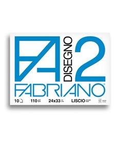 ALBUM P.M. FABRIANO2 (24X33CM) 10FG 110GR LISCIO