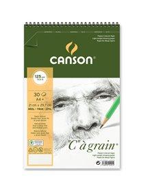 """Album spiralato lato corto """"C"""" A' GRAIN A4+ 30 fg. 125 gr. Canson"""