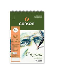 """Album spiralato lato corto """"C"""" A' GRAIN A4+ 30 fg. 180 gr. Canson"""