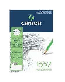 Blocco collato lato corto 1557 A4 50 fg. 120 gr. Canson