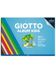 Album Kids Carta colorata 2+ f.to A4 120gr 20fg Giotto