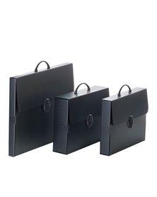 Valigetta polionda Every Line Total Black 27x37,5cm dorso 5cm Balmar