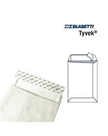 100 BUSTE A SACCO TYVEK 250X353MM 55GR C/STRIP