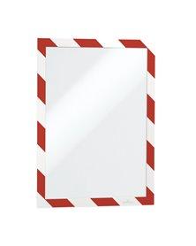 CORNICE ADESIVA RIMOVIBILE-MAGNETICA 210x297mm ROSSO-BIANCO DURABLE