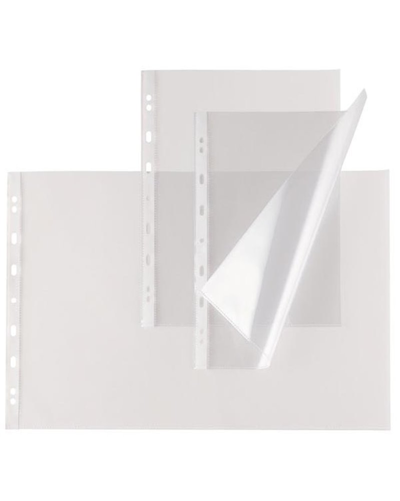 10 buste forate ATLA T 150 30x42cm liscio A3 Libro SEI ROTA