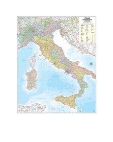 CARTA GEOGRAFICA MURALE ITALIA 97X122CM BELLETTI