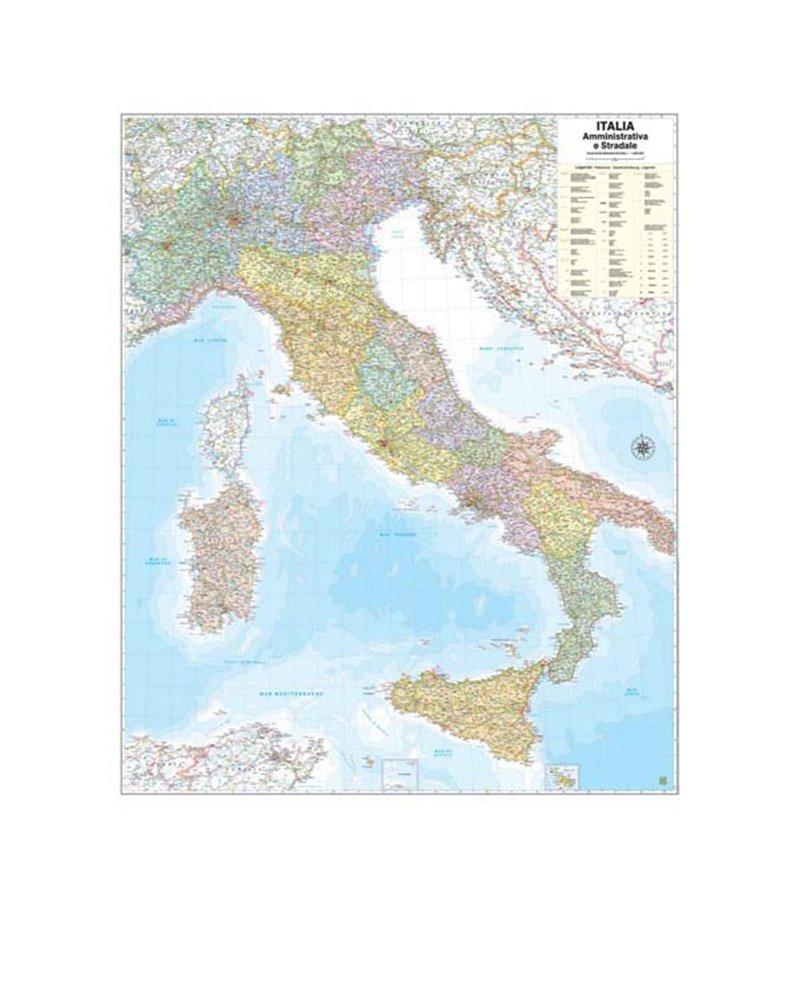 Cartina Geografica Italia Immagini.Carta Geografica Murale Italia 97x122cm Belletti