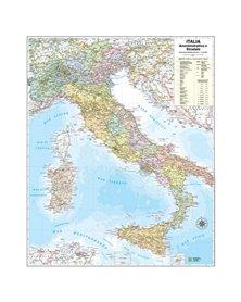 CARTA GEOGRAFICA MURALE ITALIA 67X85CM BELLETTI