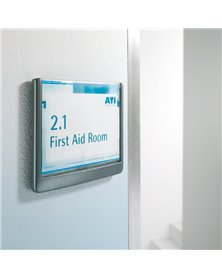TARGA FUORI PORTA CLICK SIGN 210x149MM (A5) DURABLE