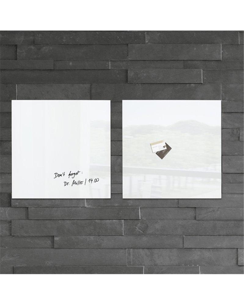 Vernice Lavagna Magnetica Colorata lavagna magnetica in vetro 48x48cm bianco artverum® sigel