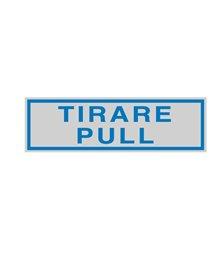 TARGHETTA ADESIVA 165x50mm TIRARE / PULL