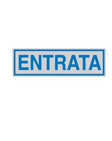 TARGHETTA ADESIVA 165x50mm ENTRATA