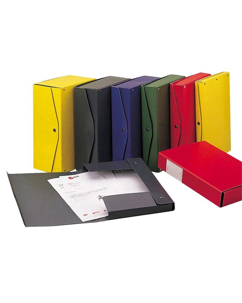 Scatola archivio PROJECT 12 giallo 25x35cm dorso 12cm KING MEC