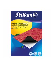 CARTA CARBONE NERO INTERPLASTIC 1022G 10FG 21X31CM PELIKAN