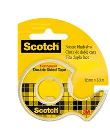 NASTRO BIADESIVO Scotch® 6,3MTX12MM 665-136D PERMANENTE S/LINER IN CHIOCCIOLA