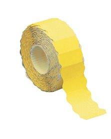 Rotolo 1500 etichette 26x12mm giallo fluo permanenti a onda Markin