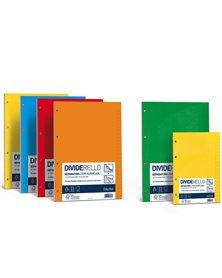 10 separatori in cartoncino colorato 220gr 15x21cm DIVIDERELLO FAVINI