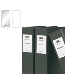 Busta 12 portaetichette PPL adesive trasparenti 22x102mm 10315S 3L