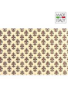 ROTOLO CARTARIVESTO 50X500CM GIGLIO MARRONE LAVABILE REX58