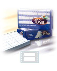 Scatola 6000 etichette adesive TAB1-0722 72x23,5mm corsia singola Tico