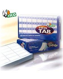 Scatola 6000 etichette adesive TAB1-1002 100x23,5mm corsia singola Tico