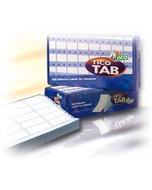 Scatola 3000 etichette adesive TAB1-1074 107x48,9mm corsia singola Tico