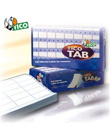 Scatola 8000 etichette adesive TAB2-1003 100x36,2mm corsia doppia Tico