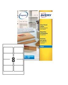 Poliestere adesivo J8565 trasparente 25fg A4 99,1x67,7mm (14et/fg) inkjet Avery