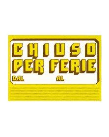 CARTELLO IN CARTONCINO 'CHIUSO PER FERIE' 23x32cm CWR 315/6