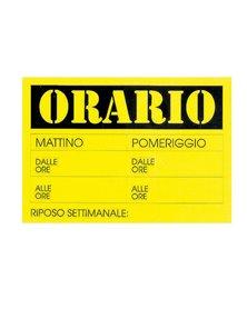CARTELLO IN CARTONCINO 'ORARIO dalle..alle..' 23x32cm CWR 315/13