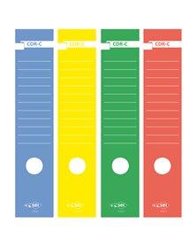 Busta 10 copridorso CDR-C carta adesiva blu 7x34,5cm SEI ROTA