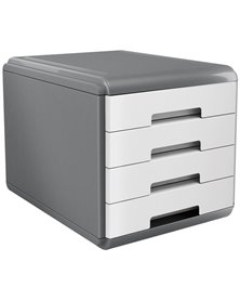 Cassettiera 4 cassetti 45mm MyDesk bianco ARDA