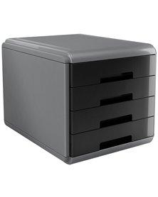 Cassettiera 4 cassetti 45mm MyDesk nero ARDA
