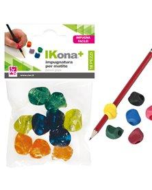 Busta 10 impugnature per matite colori assortiti CWR