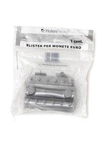 Blister 20 portamonete in PVC 1cent trasparente