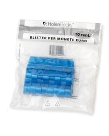 Blister 20 Portamonete in PVC 10cent blu